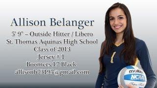 Allison Belanger - High School Volleyball Highlights