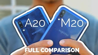 Samsung Galaxy A20 V/S Samsung Galaxy M20 Full Comparsion In Hindi