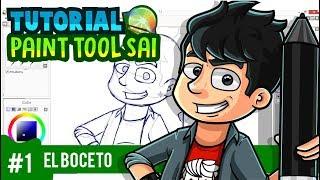 Tutorial Paint Tool Sai - Illustrator ( EL BOCETO ) Parte 1