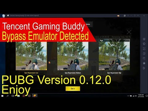 Pubg emulator detected bypass tencent gaming buddy 2019