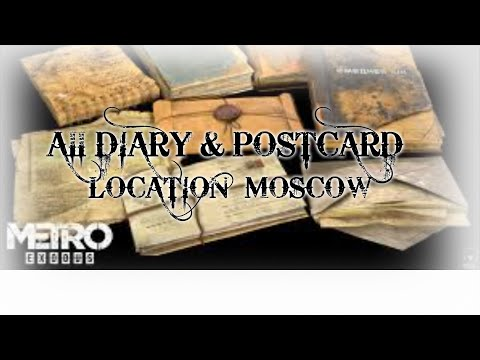 Metro Exodus - Chapter 1 Moscow/Moskwa - Diary Pages and Postcard  Locations (Collectibles Guide)