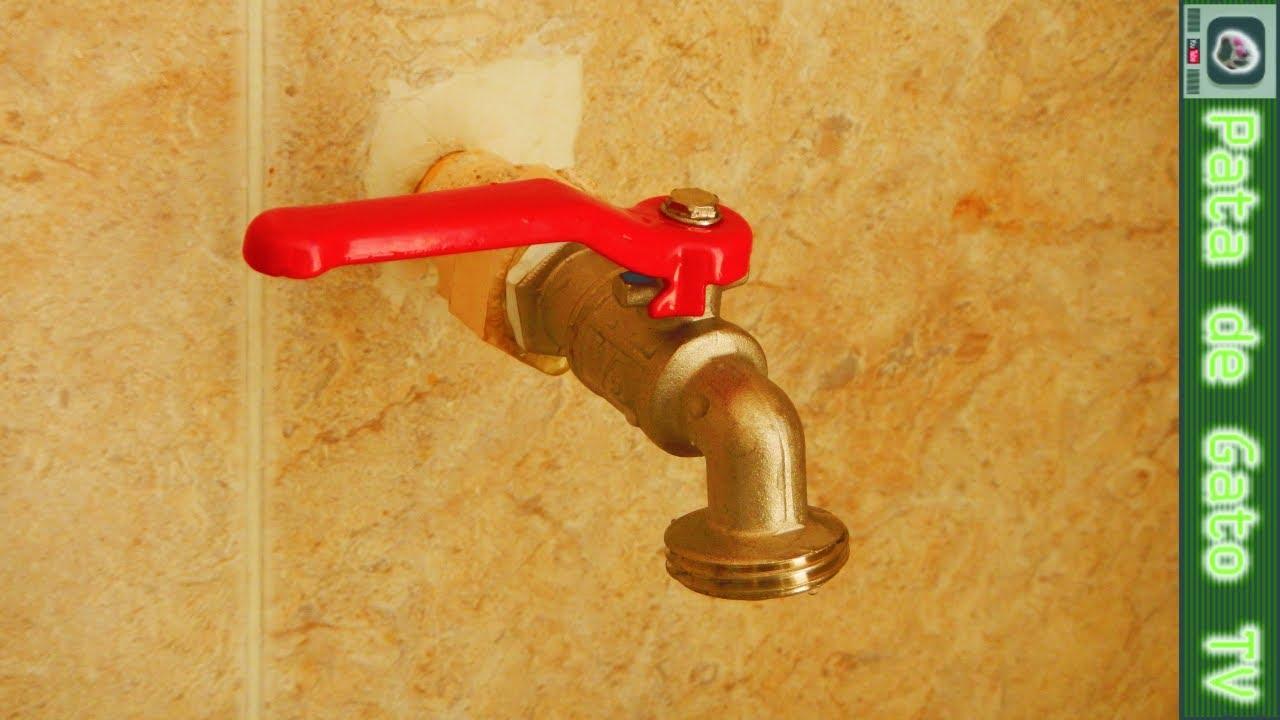 Cambiando una llave para agua changing a water tap for Como cambiar un empaque de llave de regadera