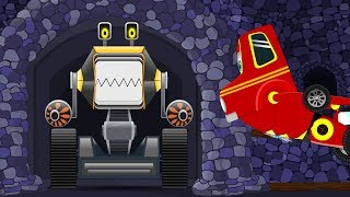 Red SuperCar Ricky vs Monster Crusher Machine | Kids Cartoon