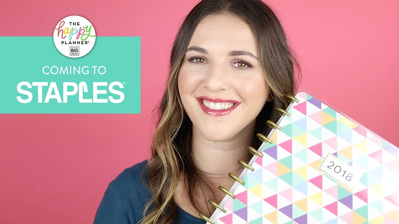 REVEAL WEEK! // NEW 12 Month - 2018 Happy Planners® // Staples!