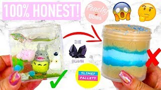 100% HONEST FAMOUS VS UNDERRATED SLIME SHOP REVIEW ! *i spill the tea*