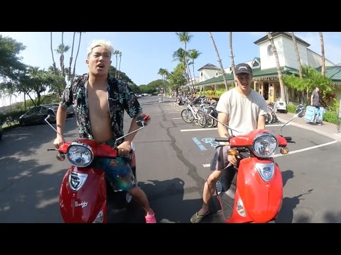 RIDING SCOOTERS FOR THE 1ST TIME!!! (HAWAII PART 3)