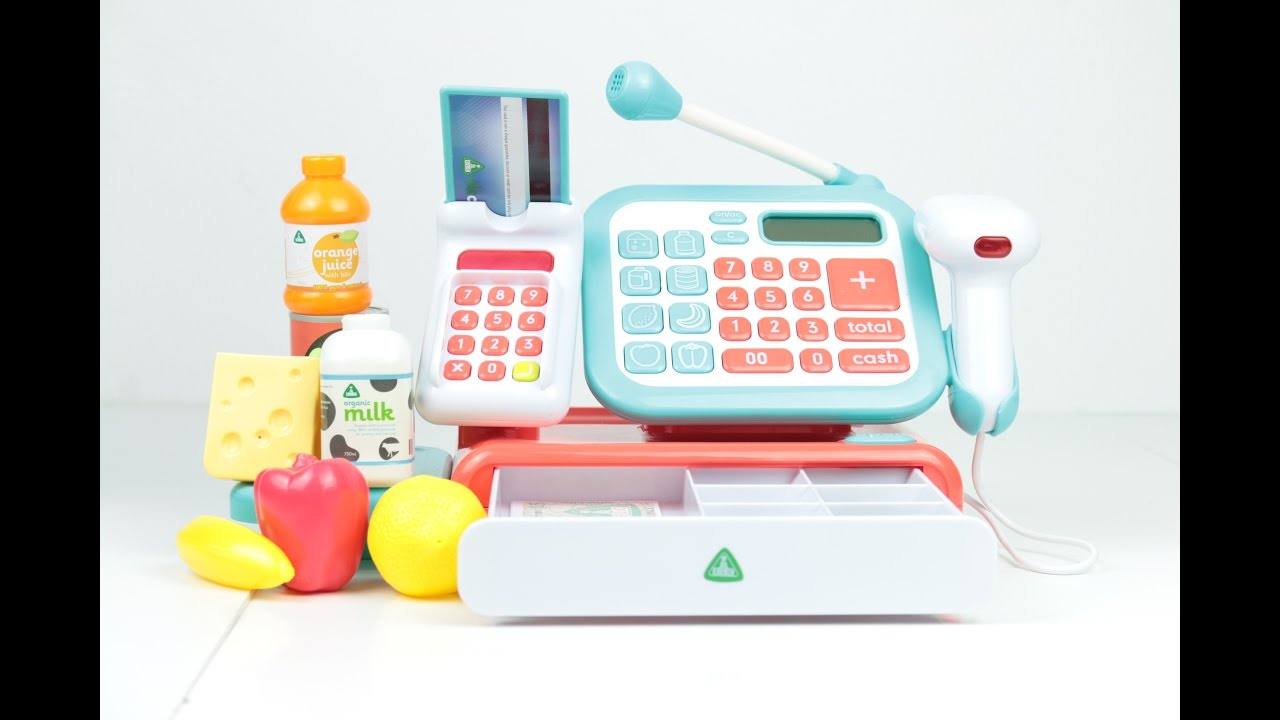 Toy shop cash register Early Learning Centre unboxing ...