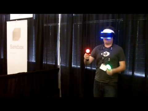 Palmer Luckey Tries Project Morpheus For The First Time - SVVR Expo 2014
