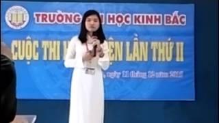 Bài thi Hùng biện êm đềm nhất VÔ CẢM đh kinh bắc
