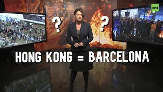 Hong Kong & Barcelona protests: Same actions, different treatment