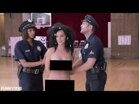 Katy Perry Tries to Vote Naked, Gets Arrested for Funny or Die