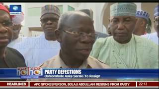 'Give Back The Crown That Belongs To APC' Oshiomhole Tells Saraki 01/08/18 Pt.1|News@10|