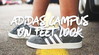 ADIDAS CAMPUS (grey) w/ ON FEET LOOK