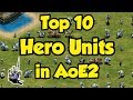 Top 10 Hero Units in AoE2