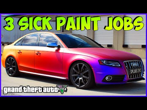 "GTA 5 ""PAINT JOBS"" Best rare paint jobs (GTA 5 PAINT GUIDE) GTA V ONLINE SECRET PAINT JOBS"