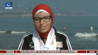 Egypt Snowshoe Training: Special Olympians Train On Sand