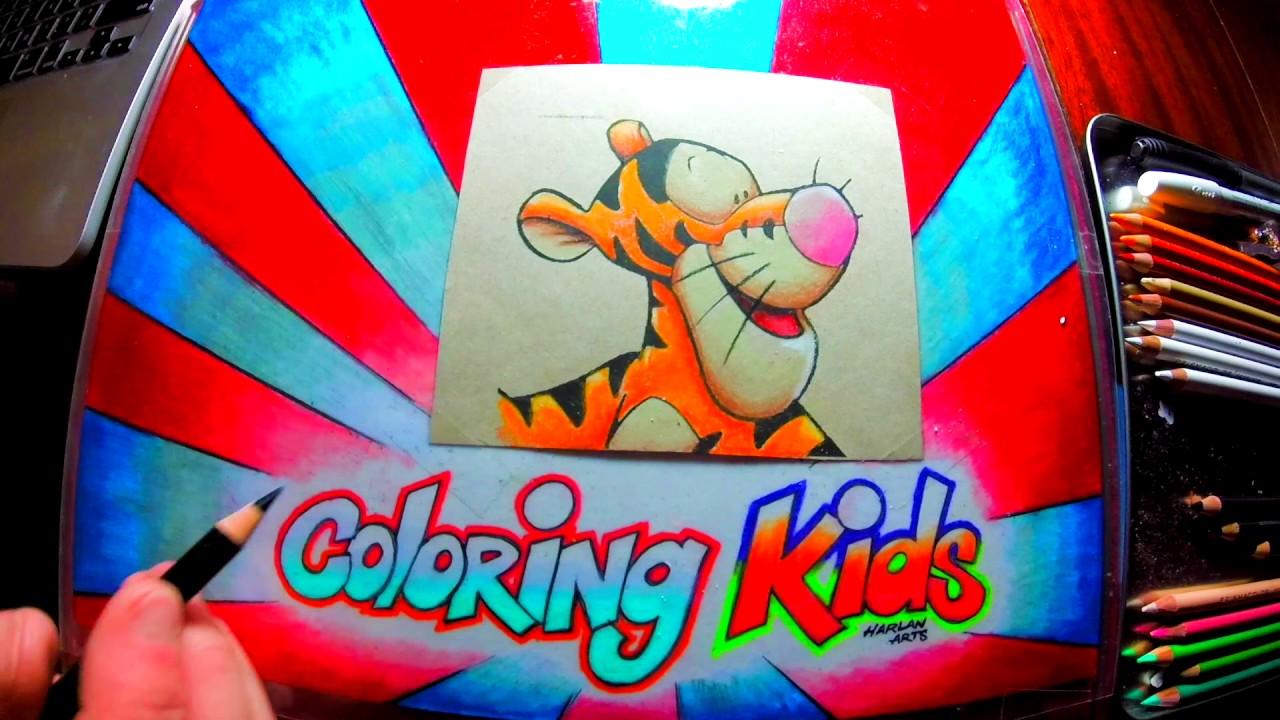 Come colorare disney personaggio dei cartoni animati da colorare