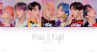 HAN ROM ENG  BTS                   - Make it Right  Color Coded s  Resimi