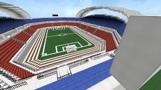 Minecraft Construcción de estadio de fútbol (cámara rápida)