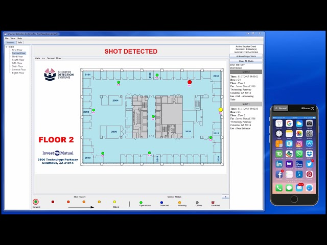 Demo: The Guardian Indoor Active Shooter Detection System