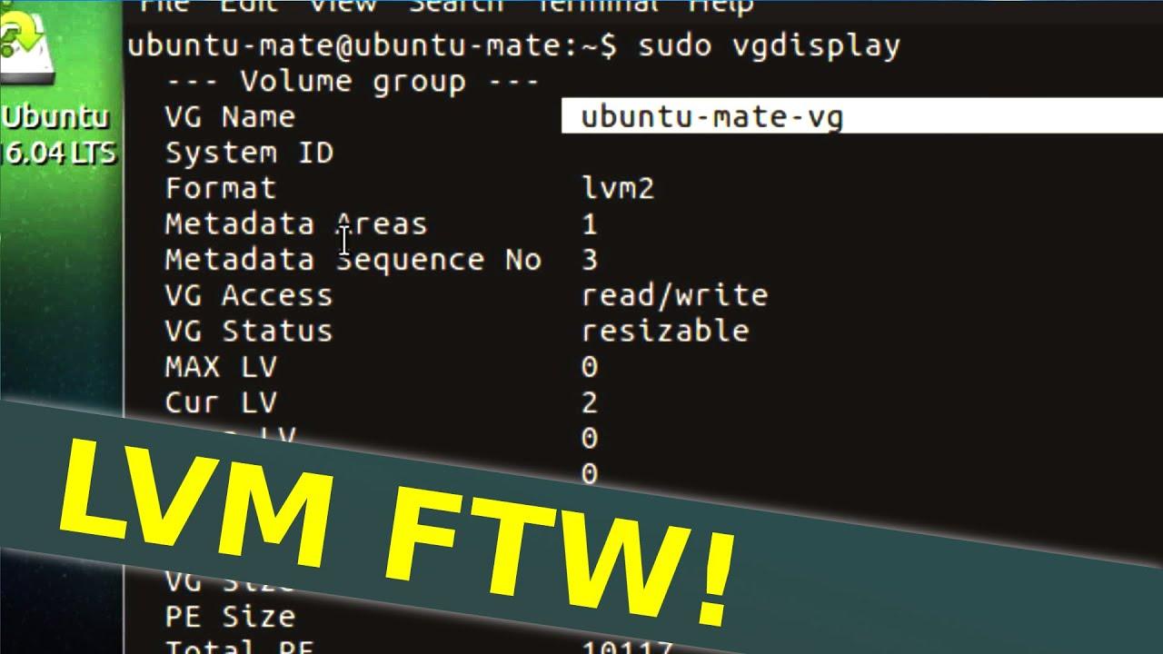 Lvm snapshot ubuntu