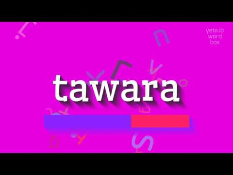 """How to say """"tawara""""! (High Quality Voices)"""