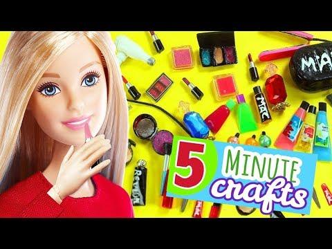 💄💋 100 DIY Miniature Barbie Dollhouse Makeup Accessories  & Lifehacks #5  -  Makeup, Lipstick etc