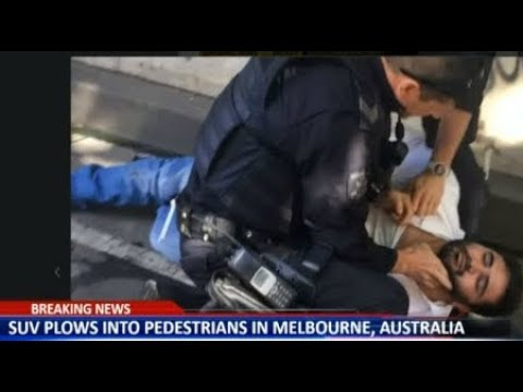 RAW SUV plows Pedestrians Melbourne Australia BREAKING News December 21 2017