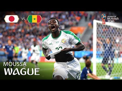 Moussa WAGUE Goal - Japan v Senegal - MATCH 32