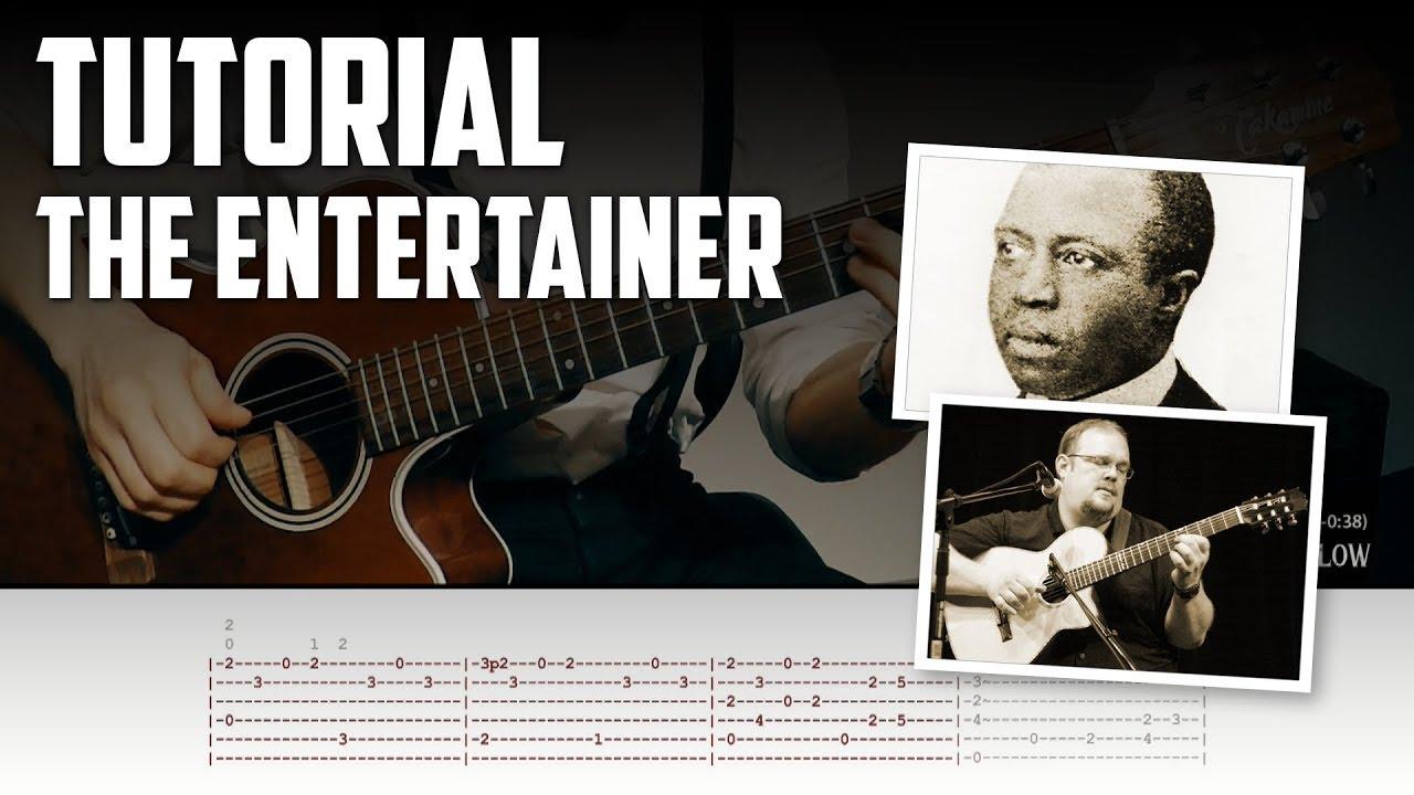 Guitar Tutorial: The Entertainer by Scott Joplin (arr  by Richard Smith)