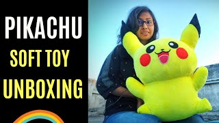 Pikachu Soft Toy Unboxing Cartoon Plush Soft Toy Unboxing Birthday Gift For Kids