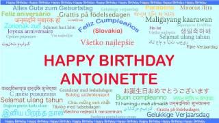 Antoinette   Languages Idiomas - Happy Birthday
