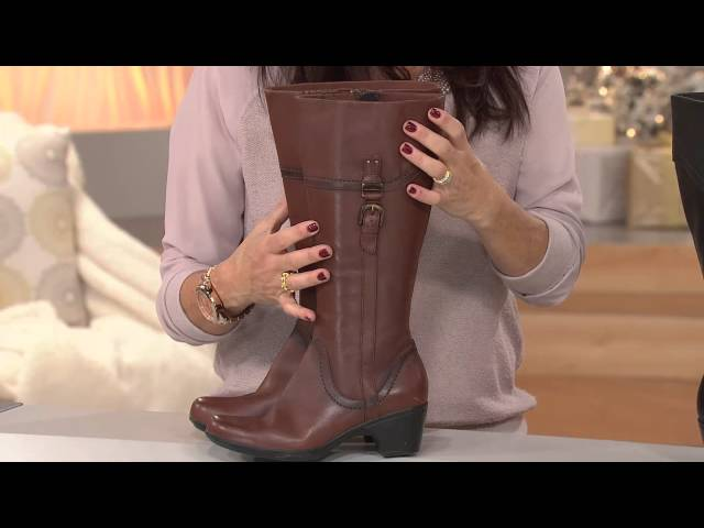 f1e60d68e23e Clarks Leather Wide Calf Boots - Ingalls Vicky 2 with Stacey Stauffer -  YouTube