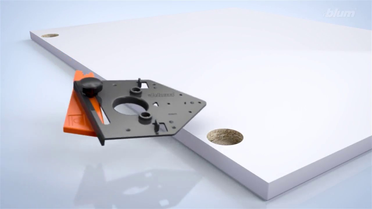 Blum Hinge Drilling Template - YouTube