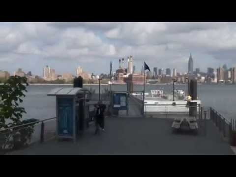 The East River Ferry docks, No 5th St, Williamsburg Brooklyn, NYC