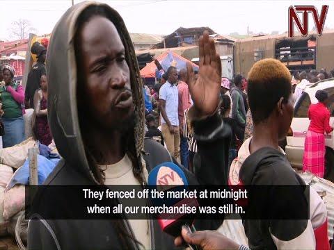 Vendors evicted from Nakivubo Parkyard market, demolition of stalls begins