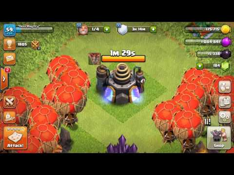 HOW TO UPGRADE LOONS LVL 7 IN 1 MINUTE CLASH OF CLAN