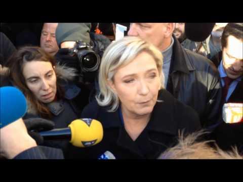 Marine Le Pen à Ecouis   6 janvier 2017