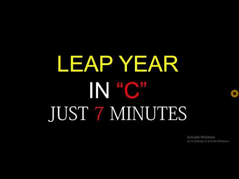 Leap year C programming in code blocks | Most easiest way to understand | Bangla