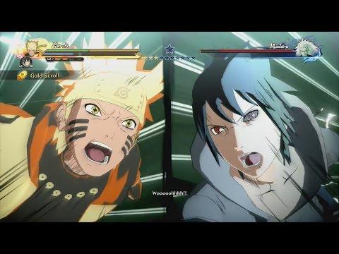 Naruto & Sasuke vs Madara Full Boss Battle (English Dub) - Naruto Shippuden Ultimate Ninja Storm 4