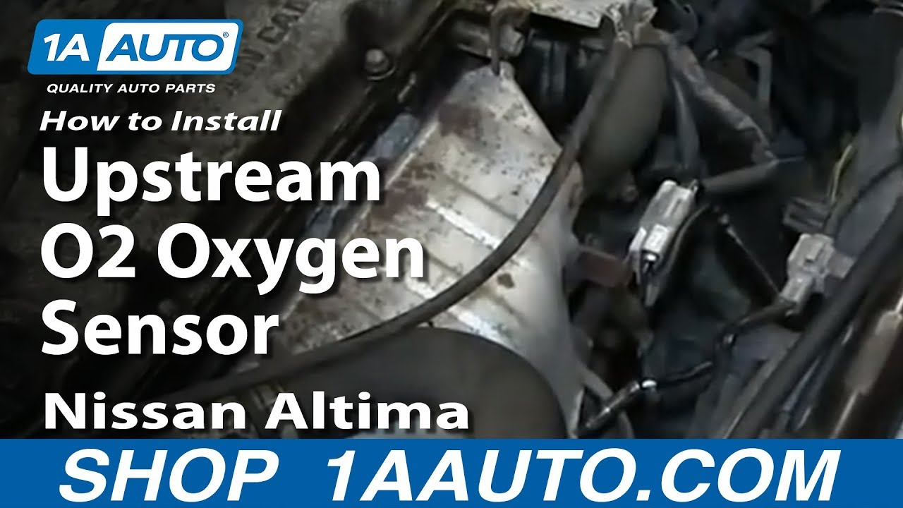 small resolution of how to install replace upstream o2 oxygen sensor 1996 99 nissan altima 2 4l