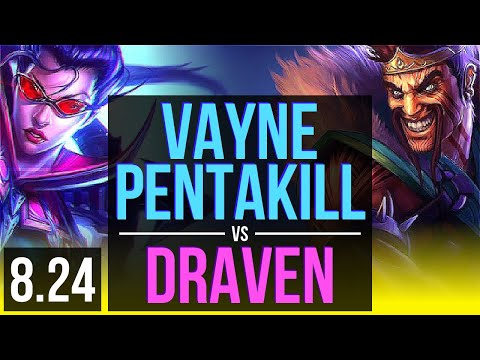 VAYNE & Rakan vs DRAVEN & Thresh (ADC) | Pentakill, KDA 9/2/10, Legendary | Korea Diamond | v8.24