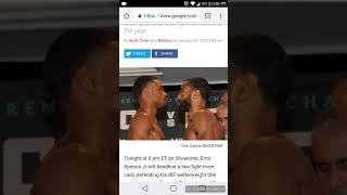Errol spence vs Lamont Peterson...spence wins by technical knock out