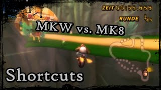 Mario Kart Wii Vs Mario Kart 8 Shortcuts