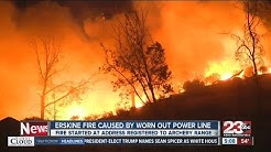 Erskine Fire caused by worn down electrical line