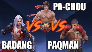 CHOU VS BADANG VS PAQUITO - WHO IS GONNA WIN?? - MLBB - MOBILE LEGENDS LABORATOYMY