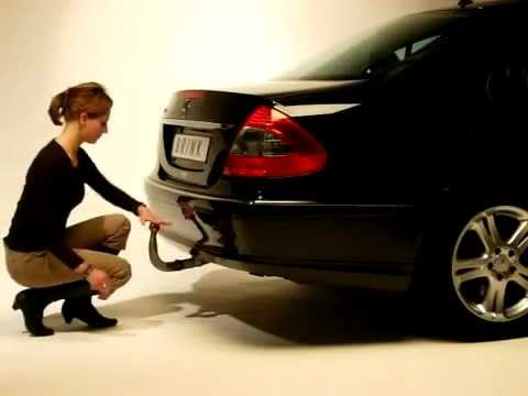 Class 1 Hitch >> Thule / Brink Mercedes E Class Retractable Towbar - YouTube