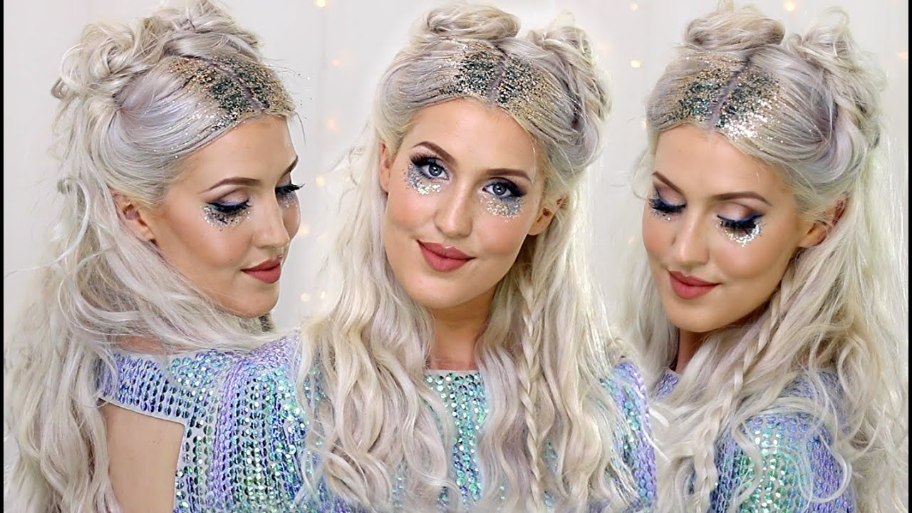 How To Glitter Roots Hair Trend Mermaid Festival Look