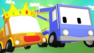 Tiny Trucks - Cinderella - Kids Animation with Street Vehicles Bulldozer, Excavator & Crane