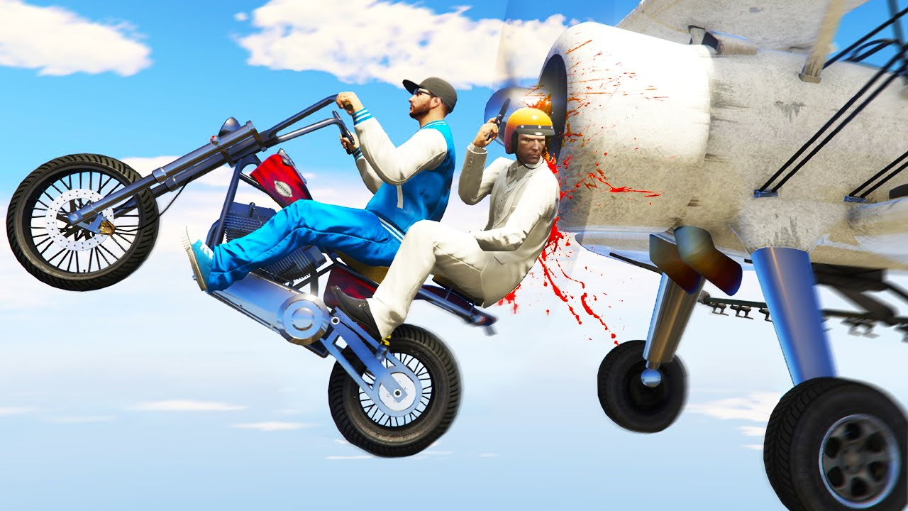 Killer Planes Vs Bikers Gta 5 Funny Moments Youtube